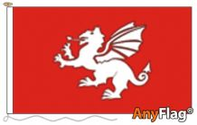 - ENGLISH WHITE DRAGON C ANYFLAG RANGE - VARIOUS SIZES